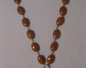 Chunky citrine necklace