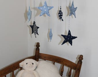 baby mobile blue starry dreams