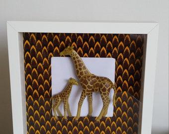 Playmobil giraffes painting