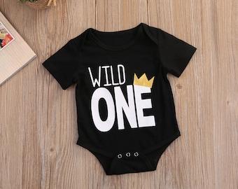 Wild One Birthday,Wild One Onesie,Wild One Birthday Outfit,Wild One Romper,Wild One Bodysuit,Birthday Outfit for Boy,Wild One Creeper