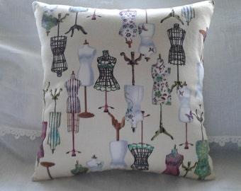 Vintage mannequin cushion