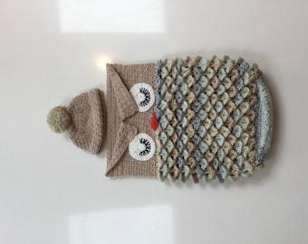 Crochet Newborn  baby cocoon & hat