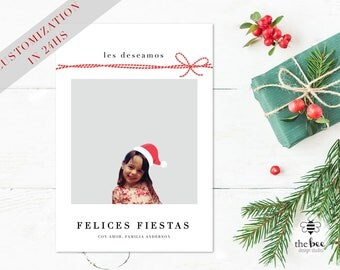 Christmas Card Customized in 24hs with your photo