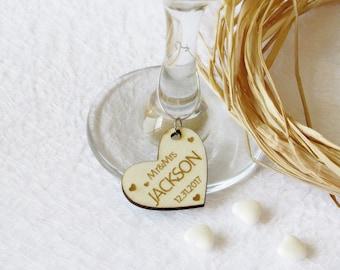 Wedding wine charms | Etsy