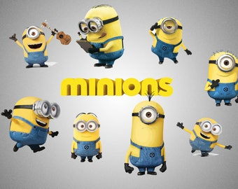 Minions Clipart , png 300 ppi , jpg , disney , printables , instant download