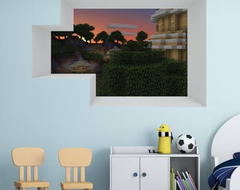 Minecraft Wall Decal Etsy - Portal 2 wall decals
