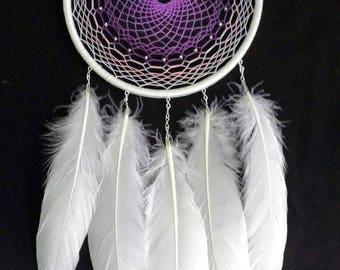 Dream catcher Lavender DreamCatcher Magic Boho White Violet House Nursery Bedroom decor Mobile Feathers Bohemian Wall hanging Wedding