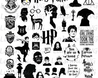 Harry Potter svg files,50 Harry Potter svg, you are so loved svg,Harry Potter SVG Pack, files for Silhouette, Harry Potter Svg,png,dxf