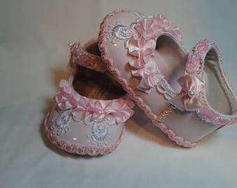 Pamela Girl's Baby Shoes 6-9 months