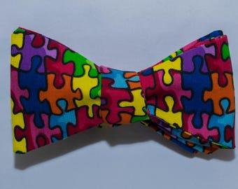 Autism Awareness Self-tie Bow Tie