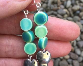 Fish blow bubbles ocean themed beach jewelry