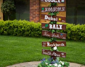 Destination/Order of Day Wedding Wooden Signs