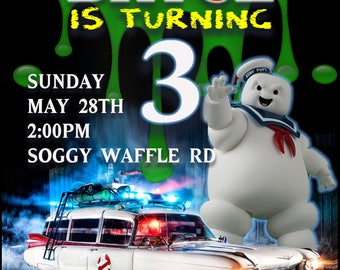 Ghostbusters party invitation