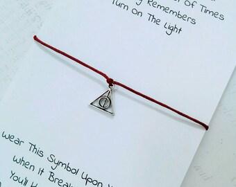 Always Harry Potter Charm Bracelet, Hogwarts Harry Potter Wish Bracelet