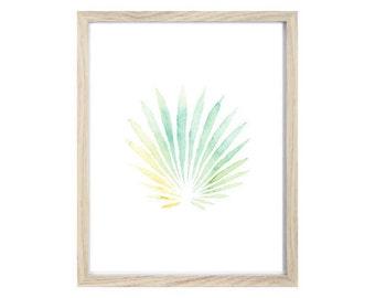 Palm Frond Gouache Giclee Print