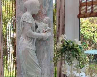 Large Life sized Contemporary Religious Mother and Child Sculpture