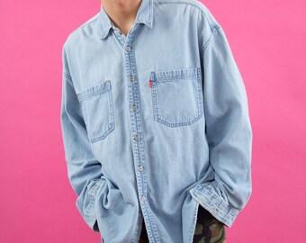 Authentic Levi's, Vintage 90s, Levi's, Blue, Acid Wash, Denim, Chambray, Levi's Strauss, 90s, Button Up, Levi, Vintage, 90s Clothes, Spring