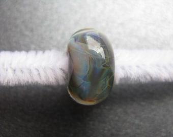 BORO Lampwork Focal Bead, Lampwork Focal Bead, Borosilicate, Light Blue, Sapphire Blue, Green, Yellow, Purple, Handmade Lampwork - HGD523