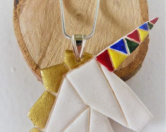 Geometric Unicorn Necklace