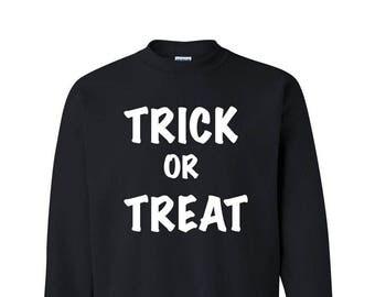 Trick or Treat Halloween Party Sweatshirt Funny Halloween Shirts Halloween Drinking Shirt Halloween Costume