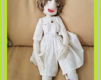 Nurse Nasty Doll | Hand made Nurse doll, cotton doll, Nurse gift, Graduation Gift, health care provider gift,
