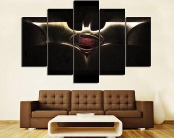 Superhero Movie Canvas Large Canvas Superhero Print Superhero Decor Superhero Canvas Art Kids Room Superhero prints