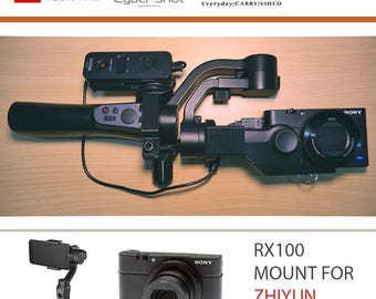 RX100 Mount V2 for Zhiyun Smooth-Q Gimbal with Remote Holder