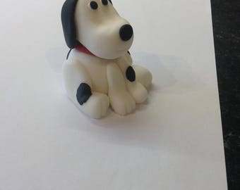Edible Sugar Paste Fondant Dog Cake Topper
