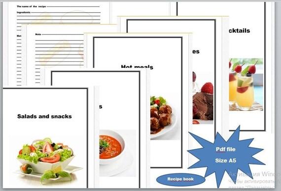 Recipe page recipe pdf size a5 photo food recipes digital recipe page recipe pdf size a5 photo food recipes digital files pdf instant download notebook for recipes simple page for recipes forumfinder Choice Image