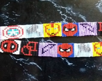 Marvel Comics Superhero Loom Beaded Key Lanyard