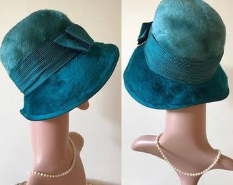 Vintage Mitzi Lorenz Cloche Hat Pristine 1950s Retro