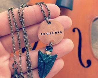 Arrowhead Smashed Penny Necklace-Custom-Personalized