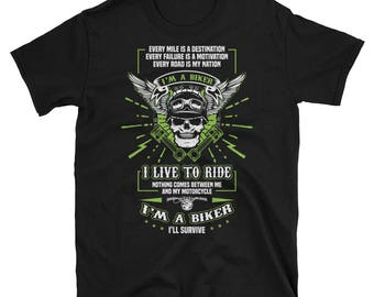 Biker T-Shirt, Motorcycle T-shirt or Motorcycle gift for the man in you life.