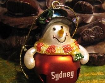 Vintage Metal Snowman Ornament from Sydney Australia circa early 1990s