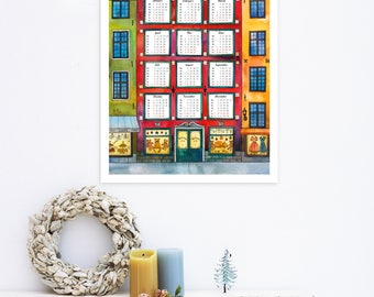 2018 Wall Calendar, Printable Calendar 2018, Large Wall Calendar, Printable Wall Planner, PDF Download Calendar, Watercolor Calendar 2018