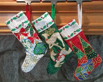 Ornament Embroidered Stocking