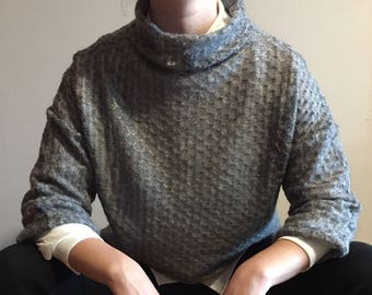 grey Wool Turtleneck Sweater