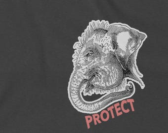 Elephant Conservation Shirt   Save The Elephants Shirt   Protect The Elephants   Animal Conservation   Animal Shirt   Elephant Print Shirt
