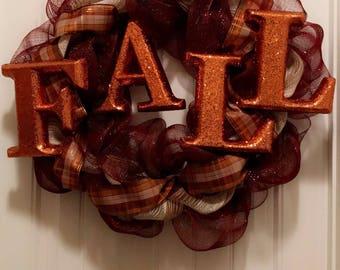 Glitter Fall Wreath