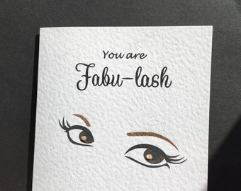 Fabulous Eye Lash Square Card Fabu-lash Blank