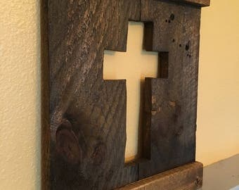 Cross Wall Decor - Stained