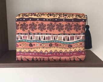 Ethnic CLUTCH/Ethnic Chic Clutch/Chic Clutch/Handbag/Ethnic Zipper Clutch/ Suede Bag/Birthday Gift For Her