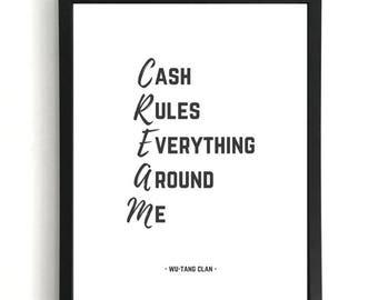 C.R.E.A.M - Wu-Tang Clan Print