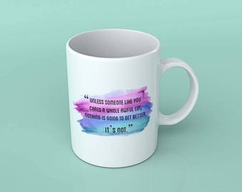 Unless some one like you care quotes White 110z Mug Gift Under 20 Christmas