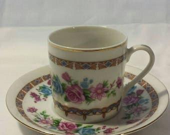 Demitasse Teacup and Saucer
