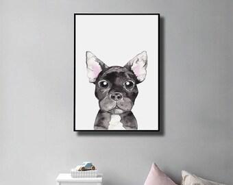 French Bulldog Gift, Year of Dog, French Bulldog print, Chinese New Year, French Bulldog Decor, Wall Art, Instant Download, Nursery Decor
