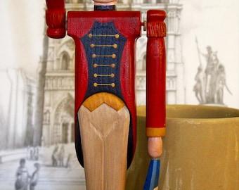 Red Jacket Soldier Whirlygig – Folk Art Carving