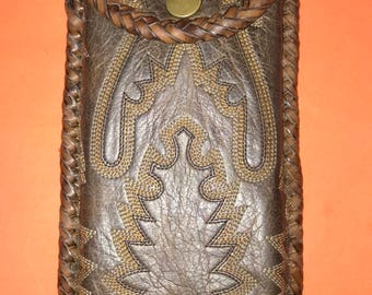 Hand made leather cellphone case