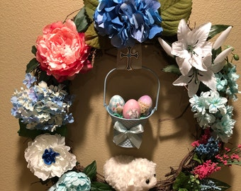 Easter Wreath, Spring Wreath, Bab Boy Wreath