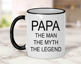 Papa the man the myth the legend Mug // Dad Gift // Father's Day Gift